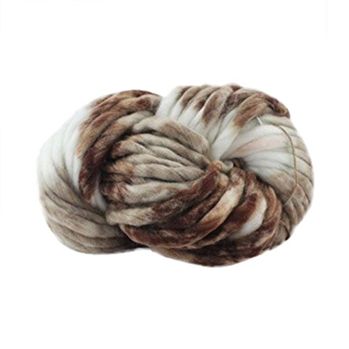 Chunky Yarn ,Vanvler Soft Wool Roving Bulky ❤️ Arm Knitting Wool DIY (A) Chunky Cross Stitch