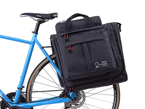 Two Wheel Gear - Classic 2.0 Garment Pannier - Waterproof Coated Premium Commuter Suit Bag (Graphite)