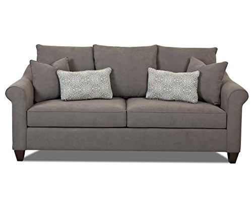 Klaussner Diego Sofa, 88 by 40 by 33-Inch, Charcoal