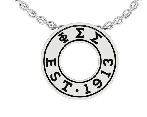 Phi Sigma Sigma Necklace with a 18 Silver Chain – Eternity Love PSS-P003