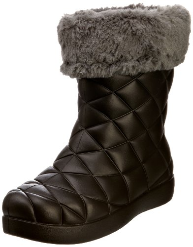 crocs Super Molded Cuffed Puff Boot Women 12514-02S-500 - Botines fashion para mujer Negro