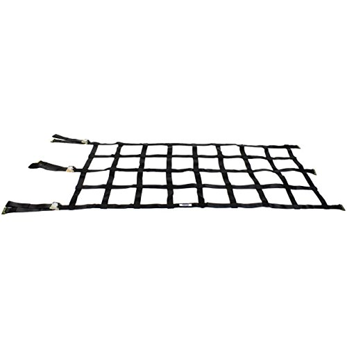 US Cargo Control Heavy Duty Cargo Net with Cam Buckles and E-Track Fittings - Net Size 42 Inches by 82 Inches with 8 Inch by 8 Inch Holes - for Use in Semi Trailers and Enclosed Van Trailers