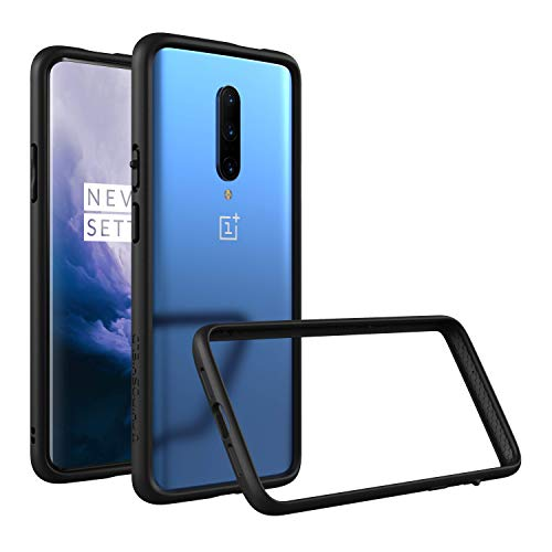 RhinoShield Bumper Case for OnePlus 7T Pro/OnePlus 7 Pro [CrashGuard]   Shock Absorbent Slim Design Protective Cover [3.5M/11ft Drop Protection] - Black