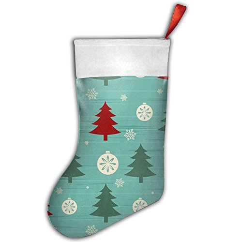 Christmas Tree With Snow Pattern Christmas Hanging Stocking,