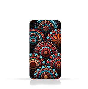 Iphone 4 / Iphone 4s TPU Silicone Case With Geometrical Madalas Pattern