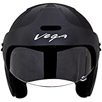Vega BUD-OF-K Half Face Helmet (Black, XS)