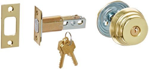 Arrow Lock E Series Bright Brass Occupancy Indicator Deadbolt Auxiliary Lock, 1-3/8'' to 1-3/4'' Door Thickness (Pack of 1) by Arrow Lock