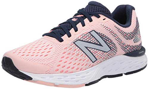 New Balance Women's 680v6 Cushioning Running Shoe, Peach SODA/Ginger Pink/Natural INIDGO, 8.5 B US