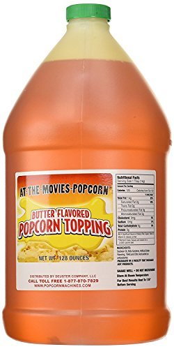 Buttery Flavor Popcorn Topping (Gallon w/Pump) by At-The-Movies-Popcorn (Image #1)