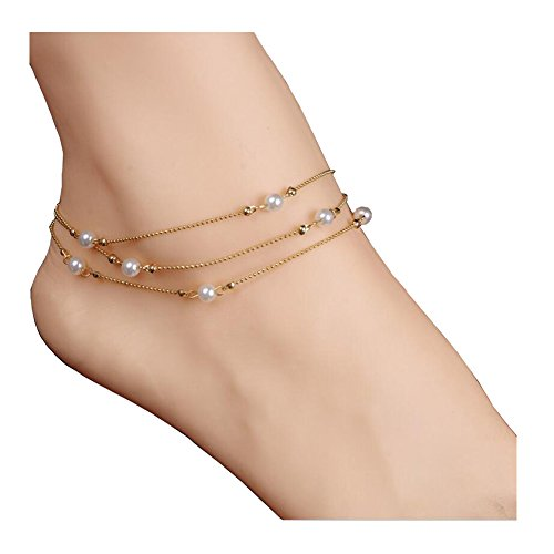 Zealmer Metal Chain Gold Ankle