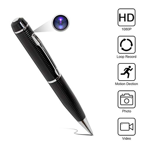 Yumfond Hidden Spy Pen Camera HD 1080P Portable Digital Video Recorder with Photo Taking, Motion Dection, Night Vision, 5 Ink Refills Mini DV Cam for Conference and Home (Video Only)
