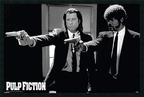 Duo Guns - Framed Art Print, Pulp Fiction - Duo Guns': Outer Size 37 x 25
