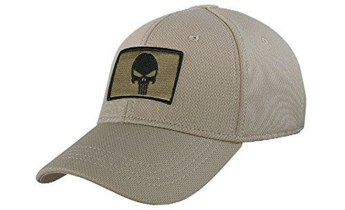 Condor Fitted Tactical Cap Bundle (Punisher/DTOM Patches) - Tan S/M