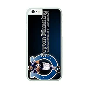 NFL iPhone 6 Plus White Cell Phone Case Indianapolis Colts QNXTWKHE0833 NFL Phone Case Fashion