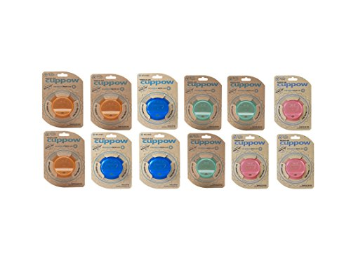 Cuppow Regular Mouth, Drinking Lids - Mixed Case of 3 Orange, 3 Blue, 3 Pink and 3 Mint