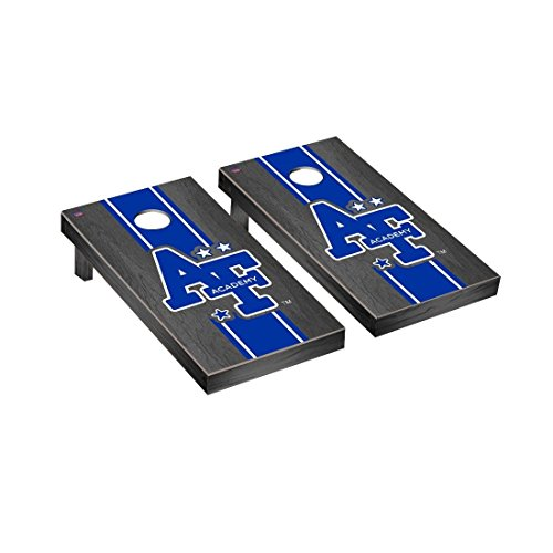 Victory Tailgate College Vault Air Force Academy Falcons Regulation Cornhole Game Set Onyx Stained Stripe - Air Force Game Falcons