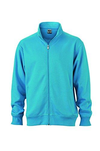 Chiusura Felpa Workwear Giacca Lampo Turquoise Sweat Jacket In Con Colletto Coreana E Alla z505q