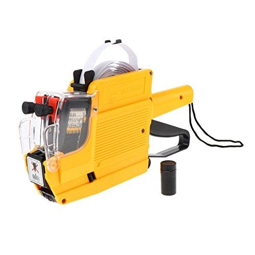 D DOLITY Bomba Etiquetadora de Etiqueta de Precio Herramientas Eléctricas Suministros de Trabajo Fabril - Amarillo