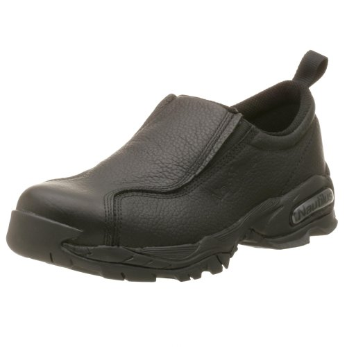 Nautilus 1630 Full Grain Leather ESD Safety Toe Slip-On,Black,9 W