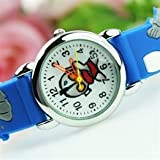 Cartoon Ultraman Kirsite Round Dial Soft Watchband Buckle Children Wrist Watch