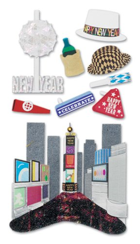 Jolee's Boutique Le Grande Dimensional Stickers, City New Year