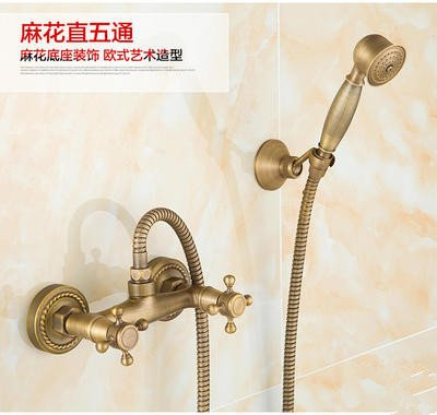 The Take Five Pass Hlluya Professional Sink Mixer Tap Kitchen Faucet The copper shower shower set shower set faucets antique shower, bluee-tiled 5 pass