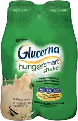 Glucerna Hunger Smart Shake, Homemade Vanilla, 11.5 Ounce, 4 Count from Glucerna