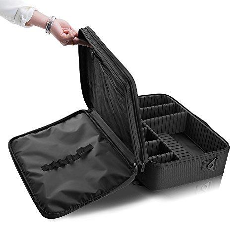 Hotrose Professhional Large Space Makeup Brush Bag - Cosmetic Artist Organizer Kit - Handle Shoulder Bag - Travel Box (Large) by Hotrose® (Image #5)