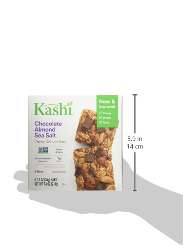 Kashi, Chewy Granola Bars, Chocolate Almond Sea Salt, Non-GMO Project Verified, 7.4 oz (6 Count)(Pack of 8) by Kashi (Image #9)