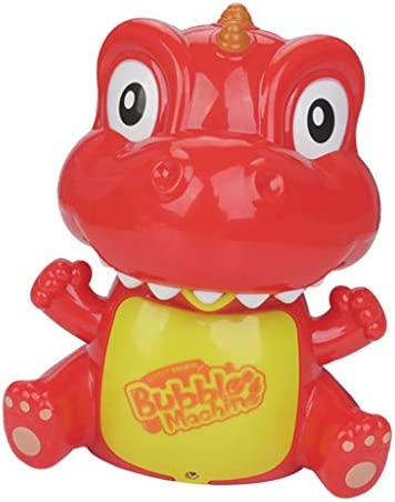 CUTICATE 電動おもちゃ バブルメーカー 恐竜の形 シャボンダマシーン 子供 バブルマシン 外遊び プール 赤