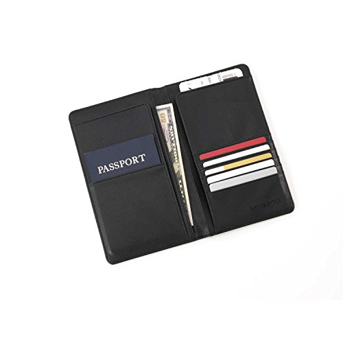 Samsonite Luggage Travel Wallet, Black, One Size