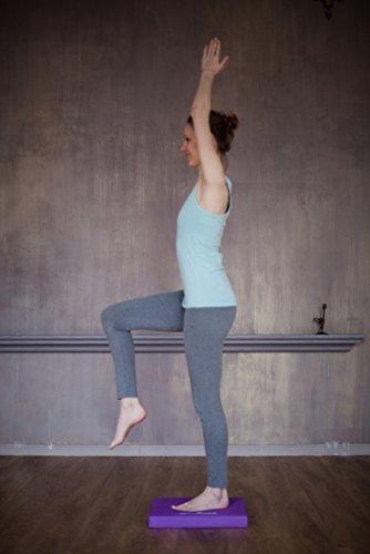 myMandala Yoga Balance Pad. New balance pads are multipurpose use it as Balancing Cushion, Stability Pad or Knee Pad (blue balance pad and Purple balance pad)