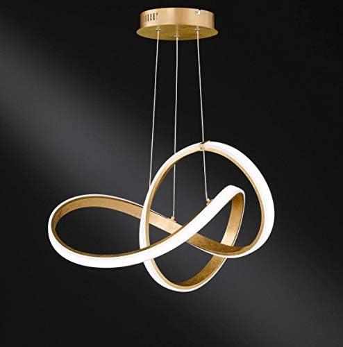 Wofi - LED Deckenleuchte Indigo gold moderne Wohnzimmerlampe (Pendelleuchte)