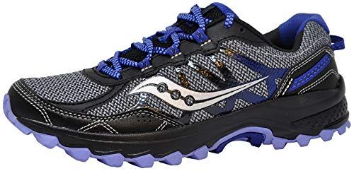 Saucony Women's Excursion TR11 Running Shoe, Grey/Black/Purple, 8.5 M US