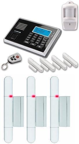 Protect 9061 Drahtlose GSM Alarmanlage mit Notruf und Freisprechfunktion App Steuerung mit ProCom App Olympia 5943 schwarz
