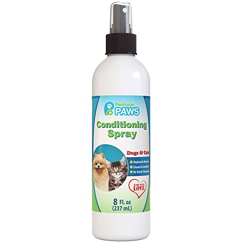Conditioning Spray for Dogs and Cats - Deodorizes, Conditions, Detangles & Freshens - Between Baths - Cucumber Melon - 8oz by Particular Paws