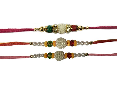 Set of Three Rakhi, Rakhi, Raksha Bandhan Gift for your Brother,