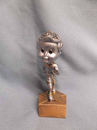 (Bobble Head Youth Male Track Statue Trophy Resin Award)