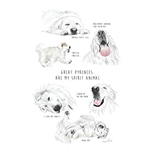 GREAT PYRENEES ARE MY SPIRIT ANIMAL blank lined journal by IMPRINTED 19