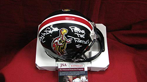 Randy White Autographed Signed Memorabilia Maryland Custom Black Mini Helmet With Fear The Turtle - JSA Authentic