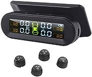 D DOLITY Sistema de monitoramento de pressão de pneu TPMS monitoramento de temperatura de energia solar univer