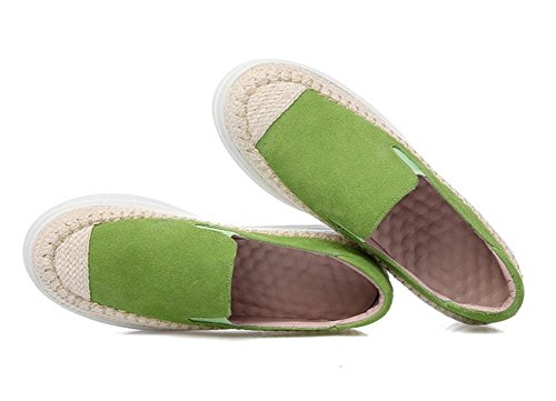 Frau Frühling erhöht Frauenschuhe Aufzug Schuhe Stroh Schuhe Muffin Plateauschuhe green