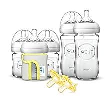 Philips Avent Natural Glass Newborn Baby Bottle Starter Set, SCD291/01