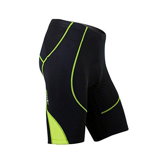 Santic Cycling Men's Shorts Biking Bicycle Bike Pants Half Pants 4D Coolmax Padded Hi Viz L