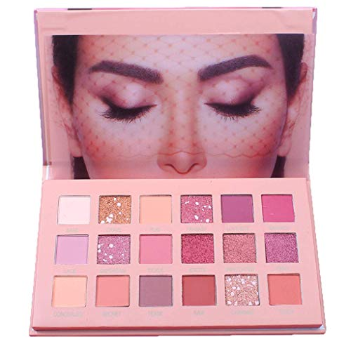 18 Color Eyeshadow Palette Makeup Eyeshadow Palette Shimmer Matte High Pigmented Long Lasting Make up Eye Shadow Pallete Cosmetics (Best Eyeshadow Palette 2019)