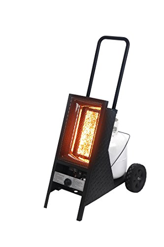 BALI OUTDOORS Portable Radiant Propane Heater 35,000BTU, 18x28x44 Black