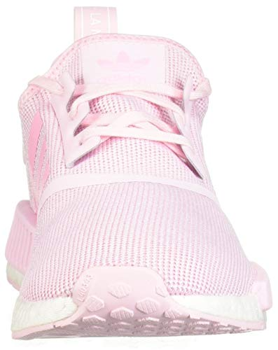 adidas Originals Unisex NMD_R1 Running Shoe Clear Shock Pink/White, 3.5 M US Big Kid by adidas Originals (Image #4)