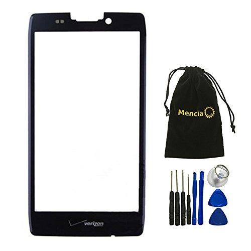 (Mencia Black Front cover Screen glass lens for Motorola Droid Razr Maxx HD XT925 XT926 XT926M With Tools (No Lcd Digitizer))