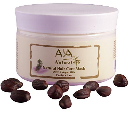 Natural Hair Mask Deep Conditioner - 100% Natural Vegan Paraben & Sulfate Free Long Lasting Conditioning Repair Mask for Dry Damaged Hair & Scalp - Moroccan Argan Oil, Olive, Coconut & Jojoba Oils