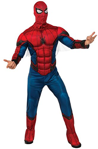 Rubie's Men's Spider-Man Deluxe Adult Costume, Multi Color Standard -